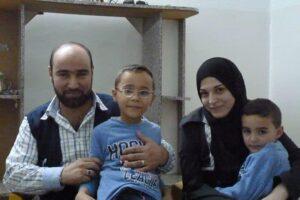 Syrian refugee and Caritas Jordan volunteer Amer Fahd Al Naser, his wife Noor, and their sons, were interviewed by Kevin Jones at their apartment in Jordan.