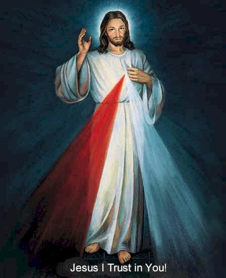The Sacred Heart of Jesus image often associated with the Divine Mercy chaplet.