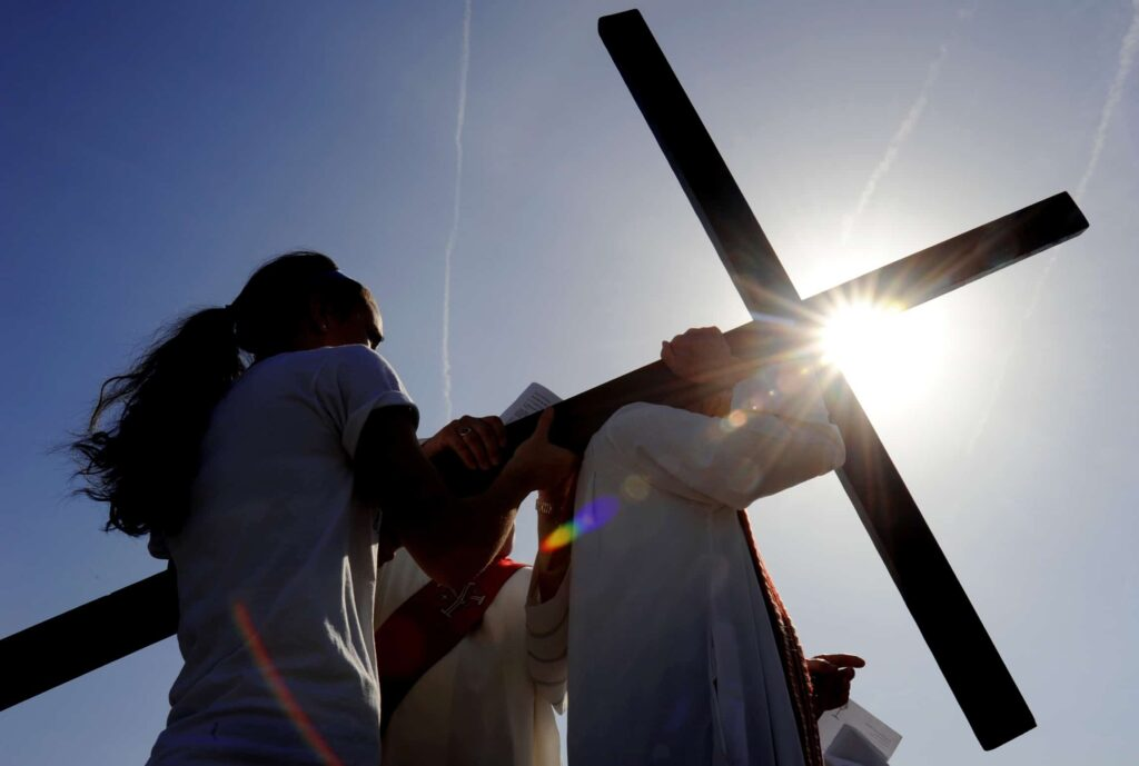 CLERGY, PARISHIONERS PARTICIPATE IN STATIONS OF THE CROSS IN NEW YORK