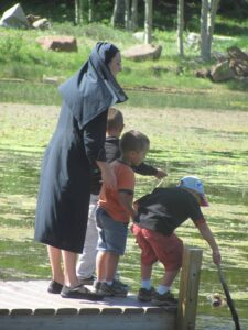 A sister of the Missionaries of St. Charles Borromeo during a visit to Colorado.