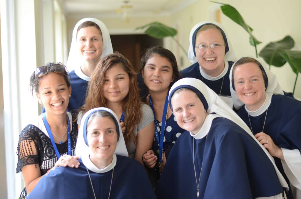 Nuns of the Sisters of Life lead a retreat for young women. Four sisters will establish a home in the Denver area this summer.