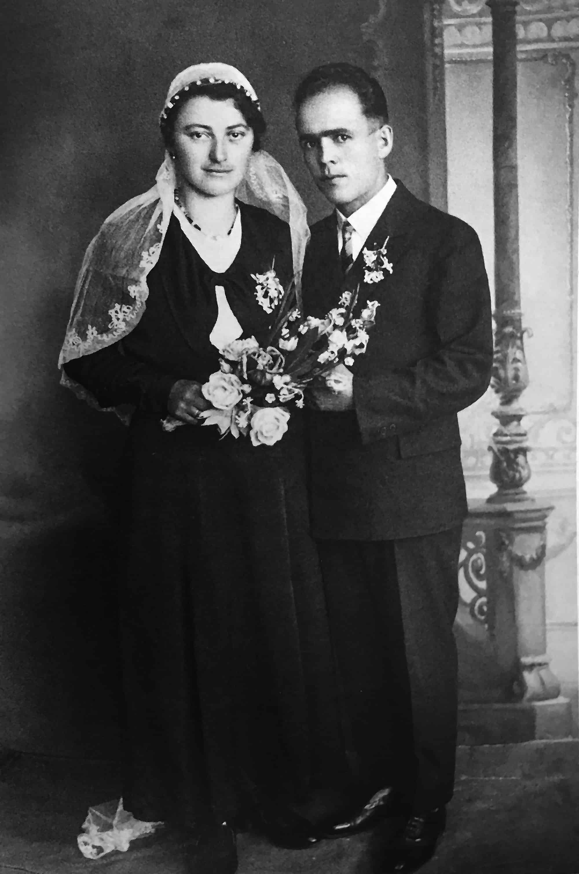 Franz and Franziska Jagerstatter after they returned from Rome, probably in April or May 1936. This is their wedding photograph./Styria Verlag. Used with permission.