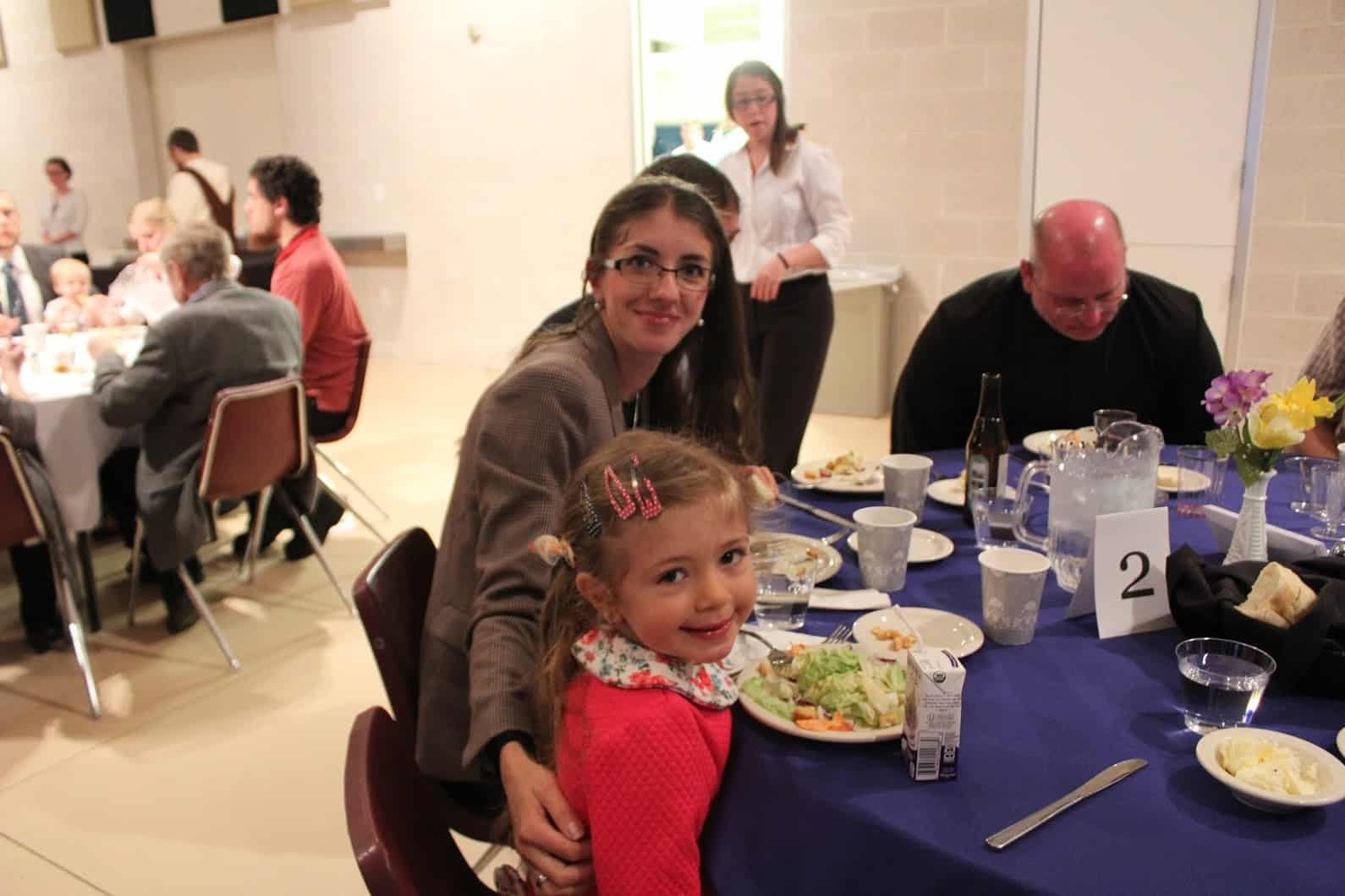 Participants of all ages enjoyed the dinner. Photo provided.