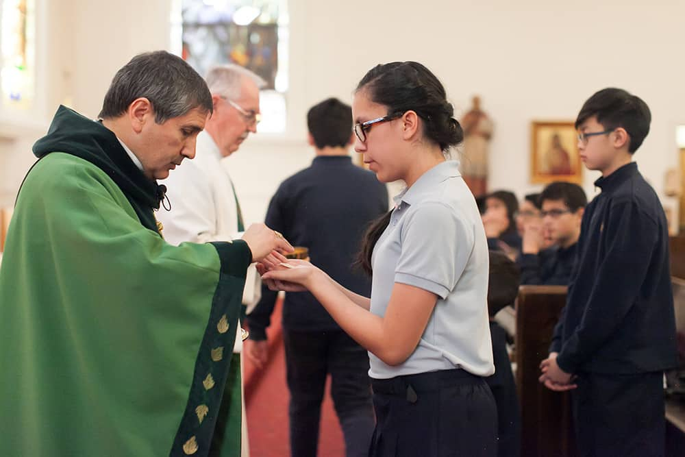 DENVER, CO, FEB. 1, 2017: St. Francis de Sales Catholic School held a Mass Wednesday in honor or Catholic Schools Week. The Mass Celebrant was Bishop Jorge Rodriguez, S.T.D. (Photo by Nicole Withee/Denver Catholic)
