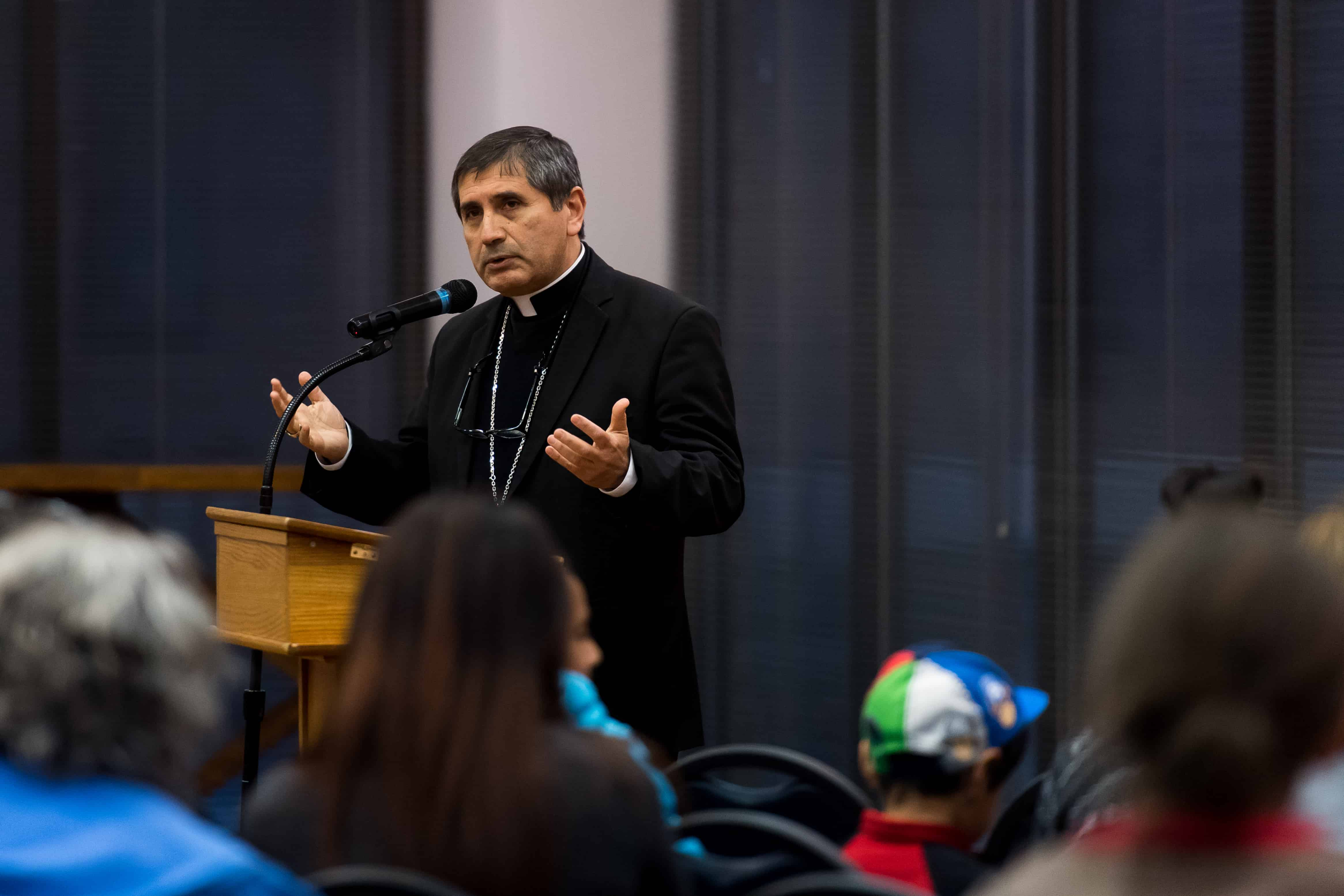 DENVER, CO - MARCH 28: Bishop Jorge Rodriguez co-hosts an information session on immigration with the Consuls General of Guatemala, Mexico and Peru at St. Mary Parish on March 28, 2017, in Greeley, Colorado. (Photo by Anya Semenoff/for Denver Catholic)